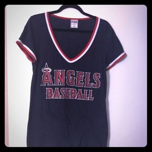 VS PINK MLB Angels Tee Shirt Size L
